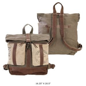 Handbags - SOLD-NEW Large Roll Top Canvas Backpack